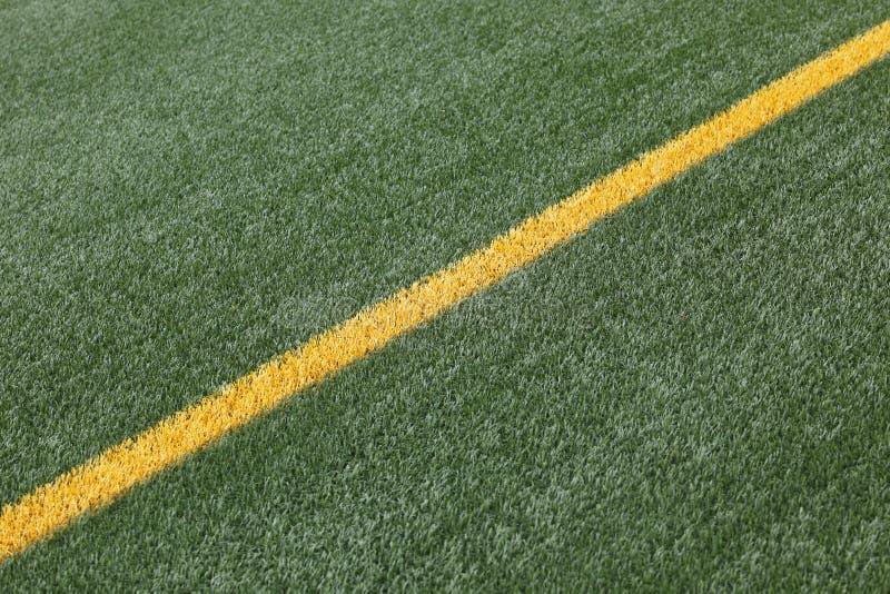 Chalk line on soccer pitch