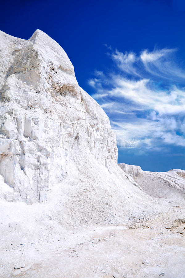 Chalk mountains near the Russian city of Belgorod. Russia royalty free stock photo