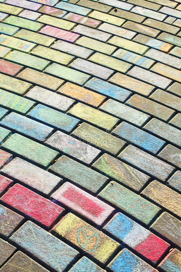 Free Chalk On Paving Royalty Free Stock Image - 9591606