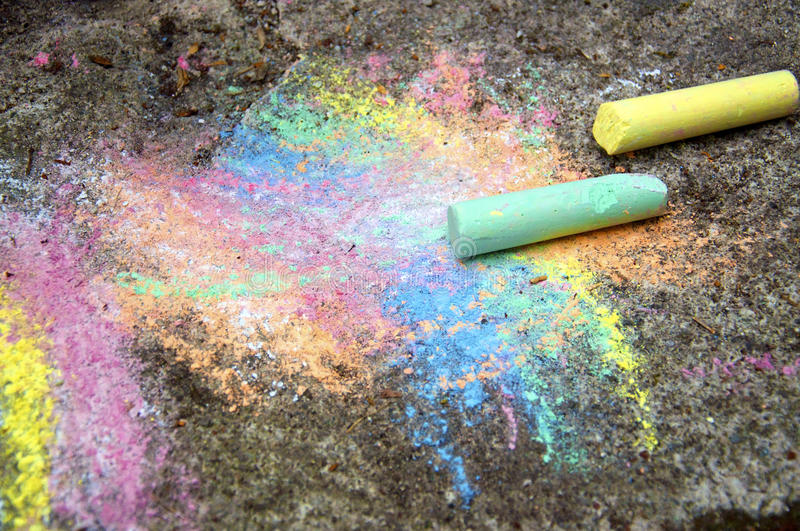 Download Chalk on the Pavement stock image. Image of nobody, beautiful - 28052437