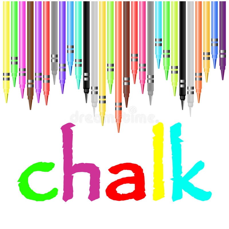 Chalk poster, painted with pastel crayons vector illustration