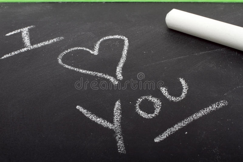 Chalk It Up To I Love You royalty free stock photography