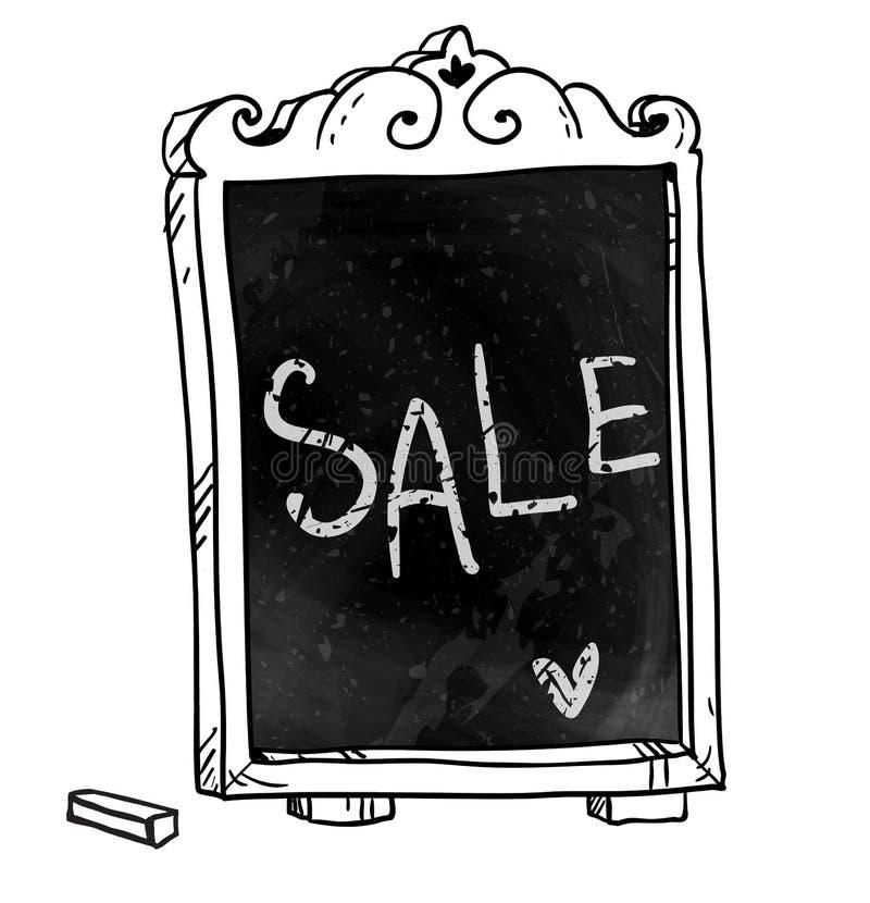 chalkboard Ανακοίνωση πώλησης απεικόνιση αποθεμάτων