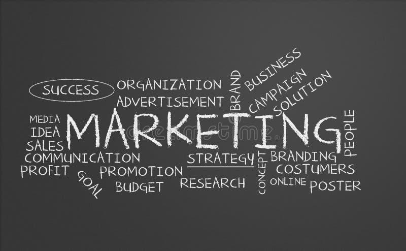 Chalkboard маркетинга иллюстрация вектора