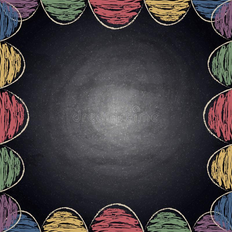 chalkboard background with drawing colorful decor stock