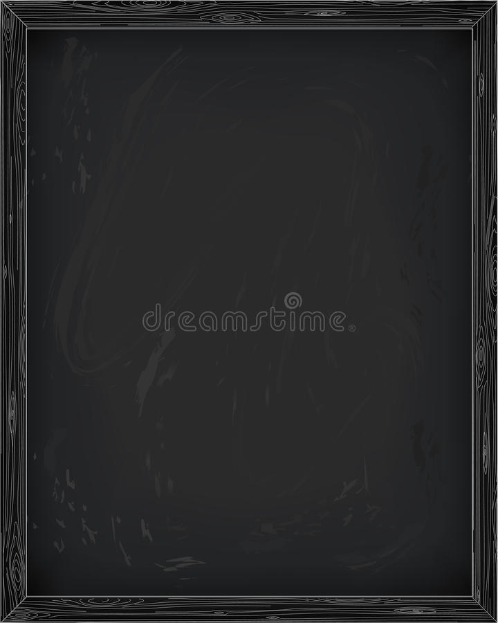 Chalkboard blackboard noticeboard deski pusta czysta brezentowa deska ilustracji