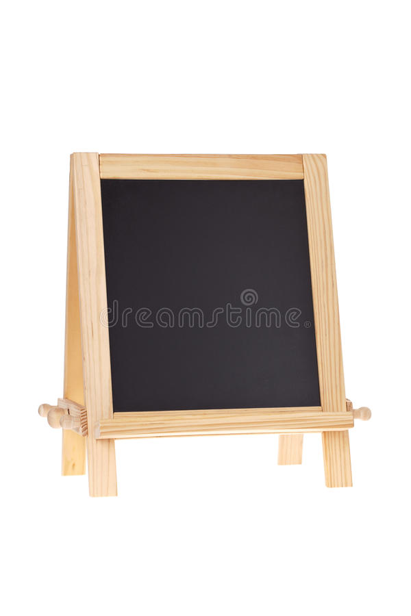 Chalkboard Easel Isolated On White Royalty Free Stock Images