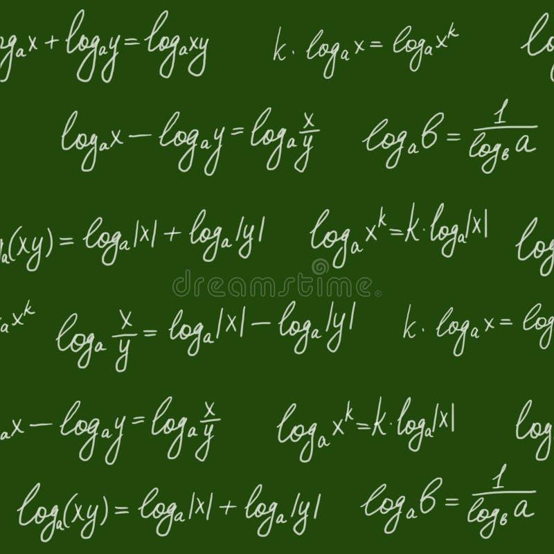 Download Chalkboard Formulae Seamless Pattern Stock Illustration - Illustration of equation, element: 12602934