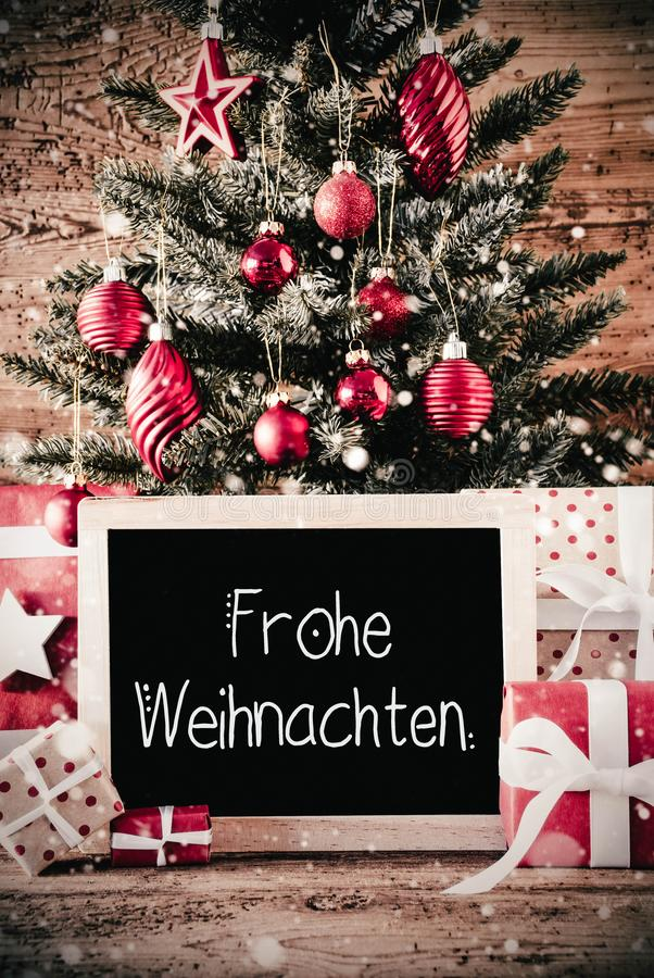 chalkboard with weihnachten means merry christmas stock. Black Bedroom Furniture Sets. Home Design Ideas
