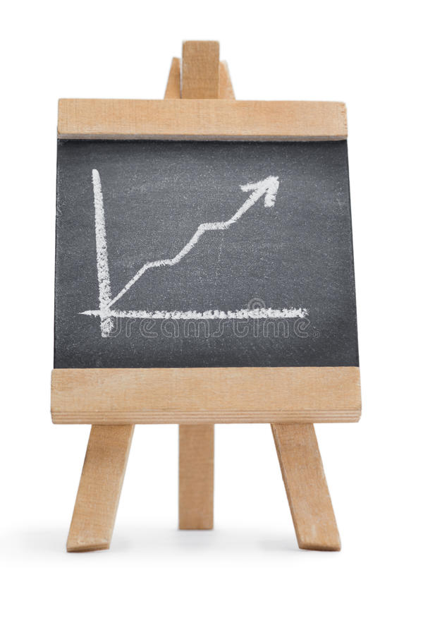 Chalkboard With A Graphic Drawn On It Royalty Free Stock Photo