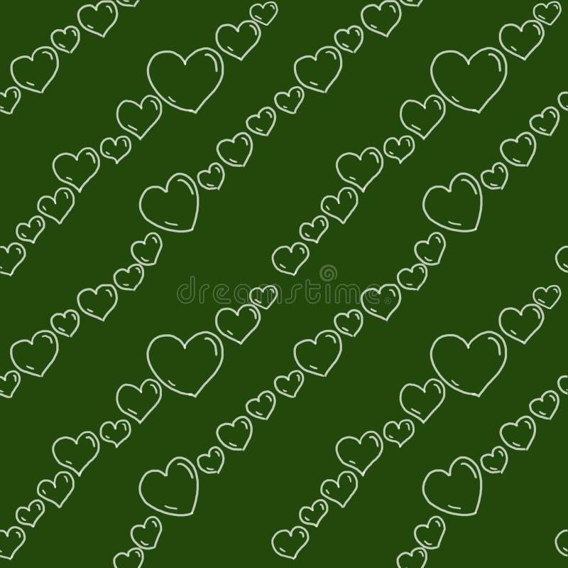 Chalkboard Hearts Seamless Pattern Stock Photography