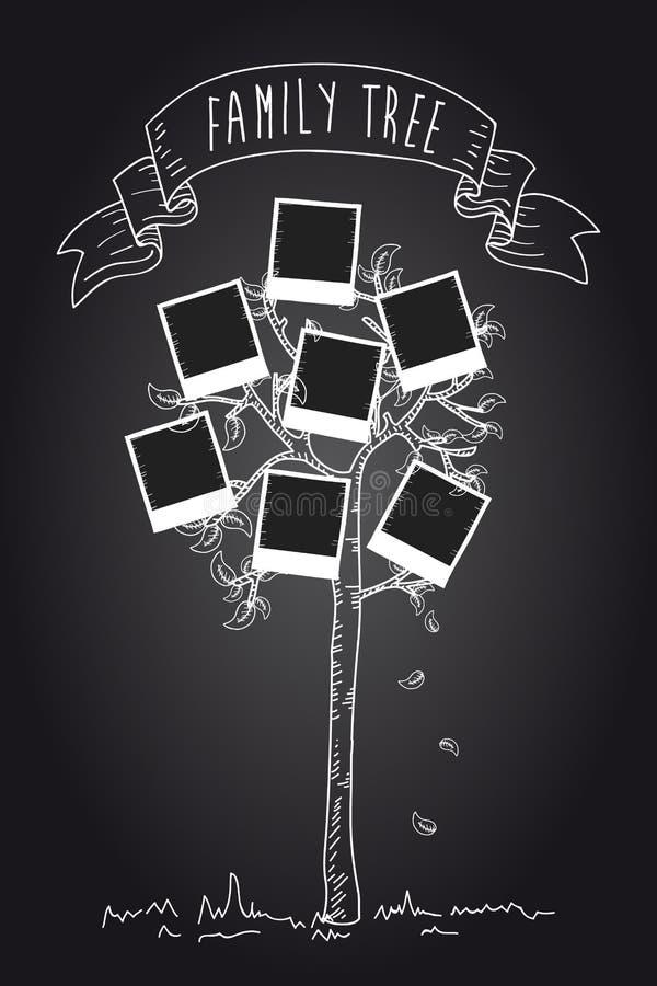 Chalkboard Instant Photo Tree Stock Photography