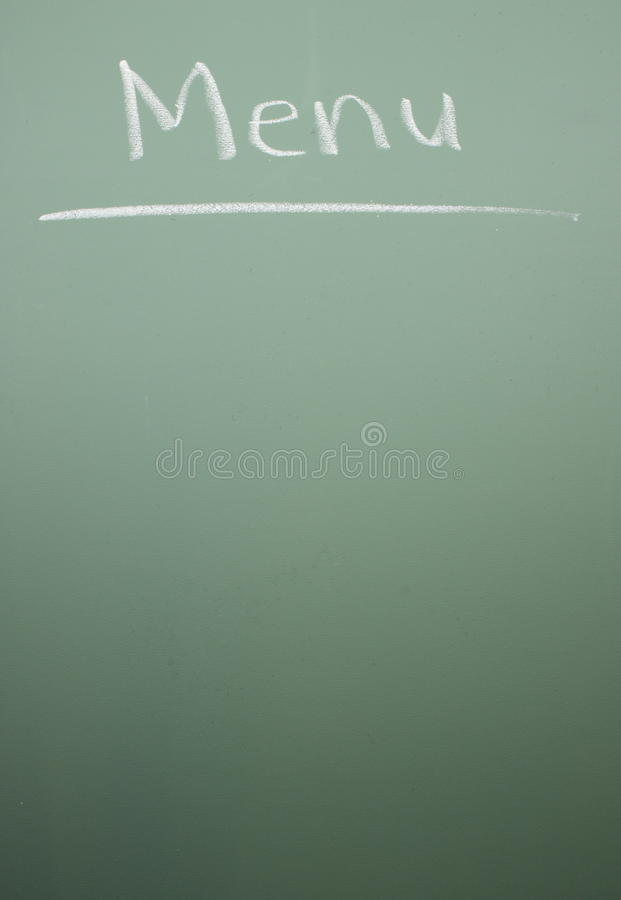 Download Chalkboard Menu stock photo. Image of texture, restaurant - 11443948