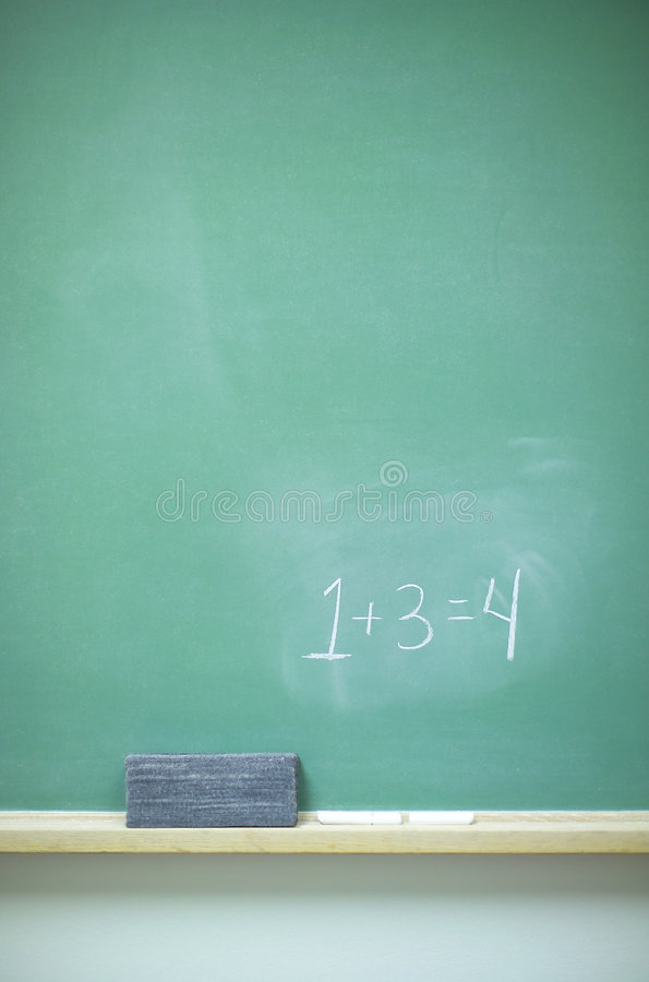Chalkboard with numbers stock photography
