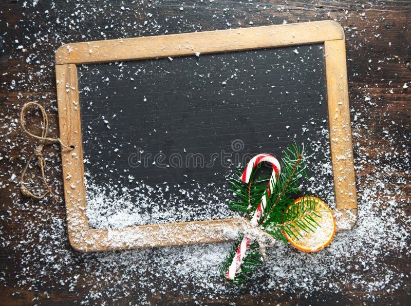 Chalkboard pusty Bożenarodzeniowy łupek fotografia royalty free