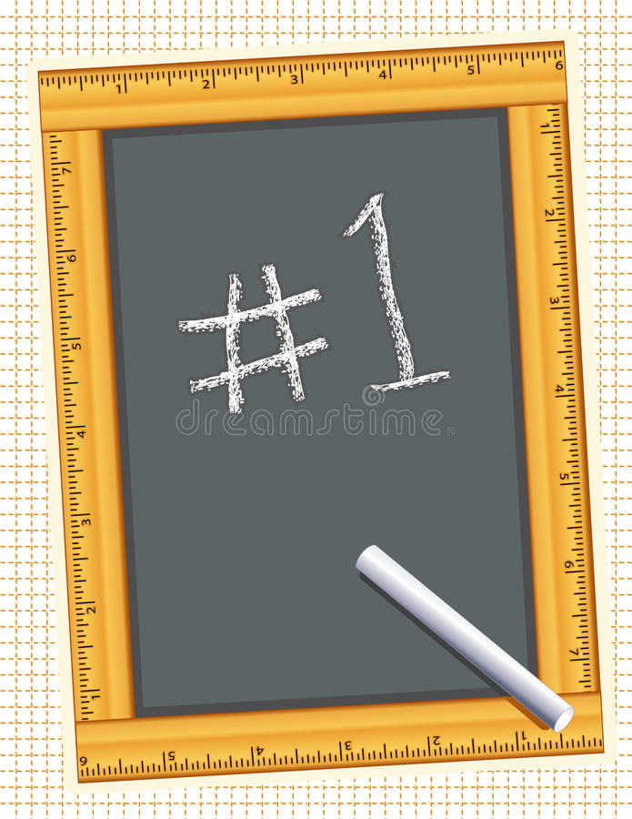 Free Chalkboard, Ruler Frame, Number One! Stock Photography - 14762882