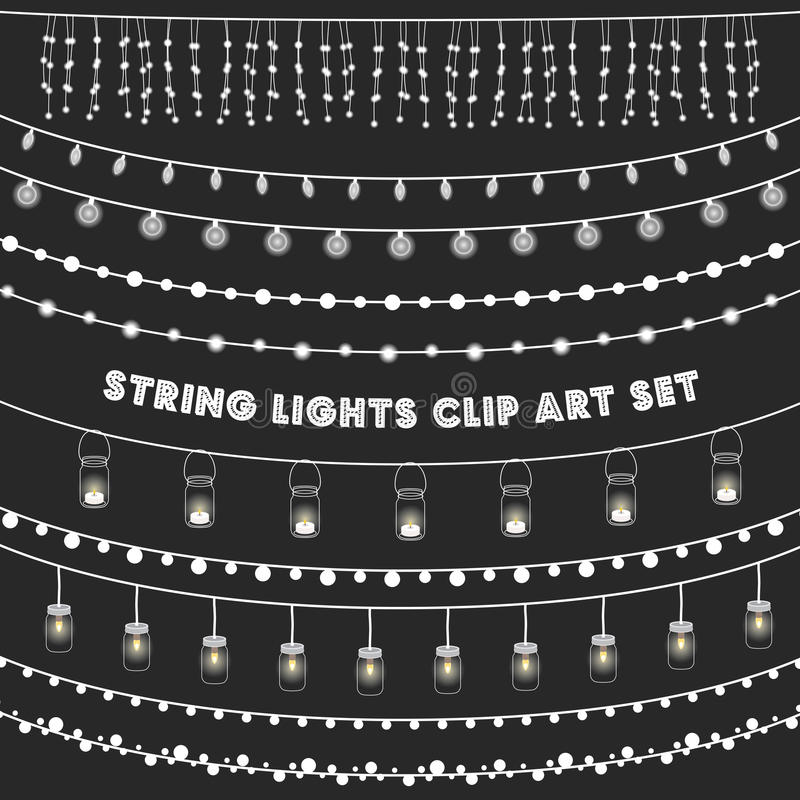 Free Chalkboard String Lights Set Royalty Free Stock Images - 70722179