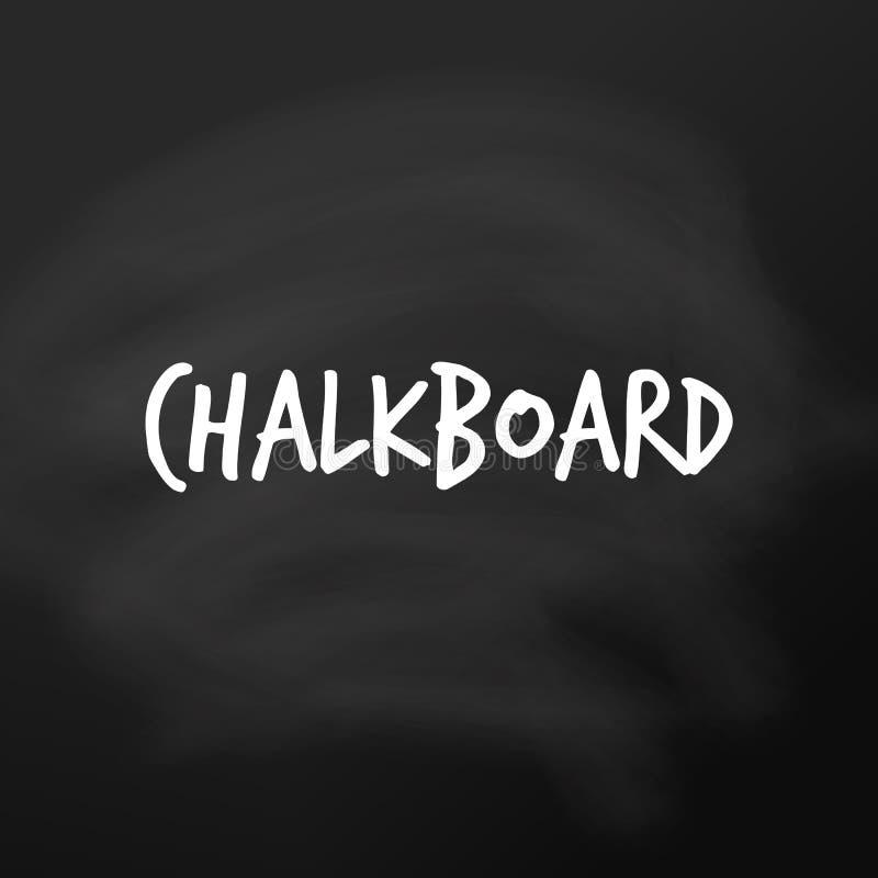Chalkboard vector. Black background board template for school lessons. Blank blackboard, surface for teacher notice vector illustration