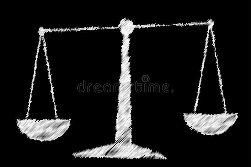 Chalkboard Waży ilustracji