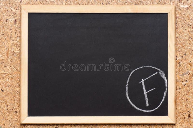 Chalkboard z writing obraz royalty free