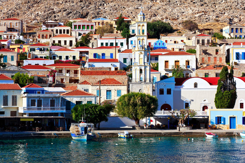Download Chalki island port stock image. Image of halki, house - 26594457