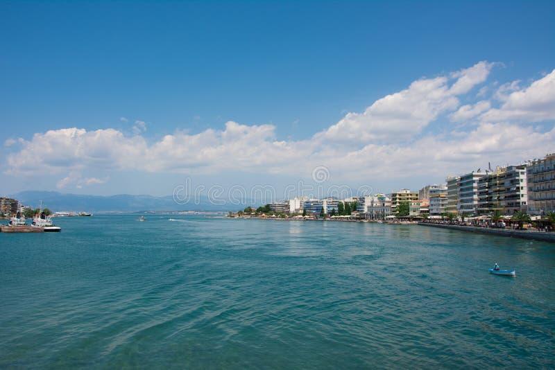 Chalkis,希腊海滩  库存图片