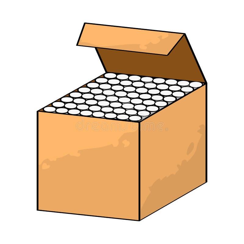 Chalks in Box isolated on white backgroun -Vector Illustration stock illustration