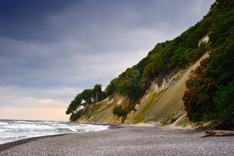 Download Chalks Cliff (Ruegen, Germany) Stock Photo - Image of cloud, trees: 6773800