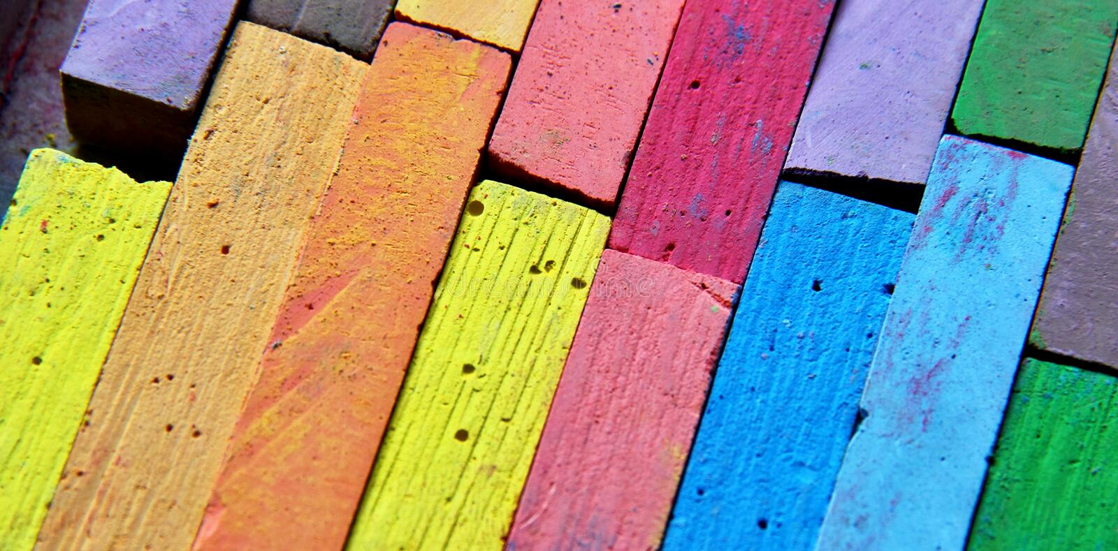 Chalks royalty free stock images