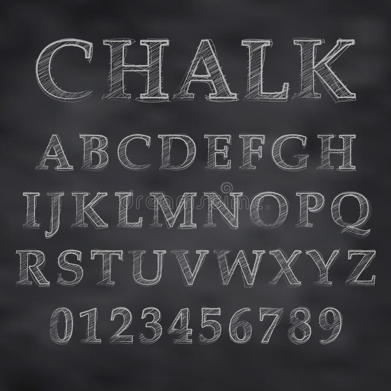 Chalky stilsort stock illustrationer