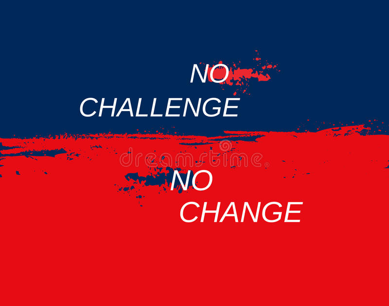 Challenge background concept royalty free illustration