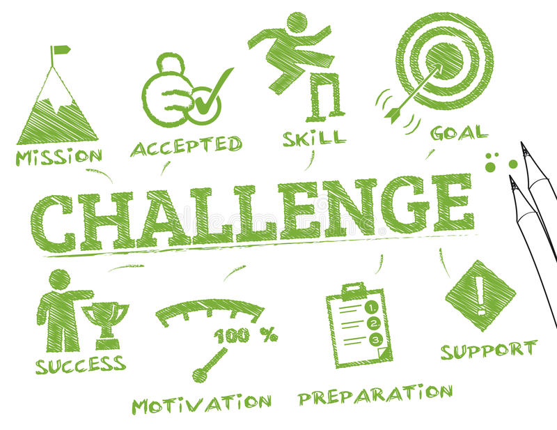 Challenge stock illustration