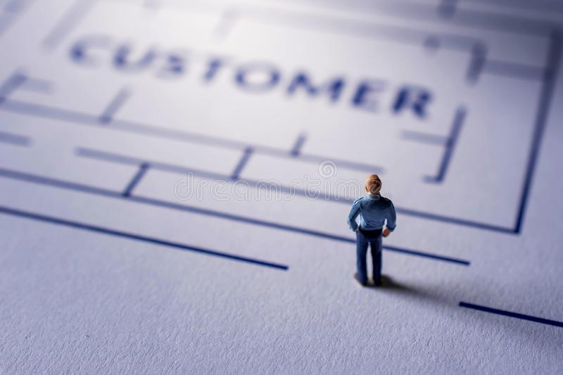 Challenge for Customer Experience Concept. present by Miniature royalty free stock photo