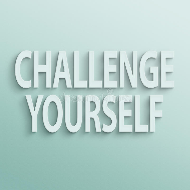 challenge dig royaltyfri illustrationer