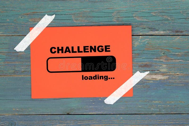 Challenge loading on paper vector illustration
