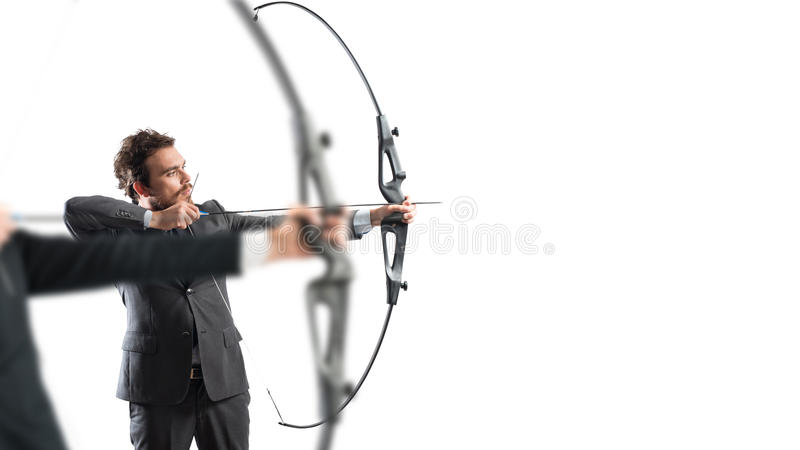 Challenge for reach and hit new business targets stock images
