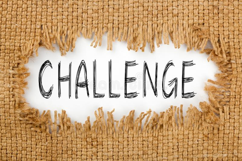 Challenge Word Concept royalty free stock photo