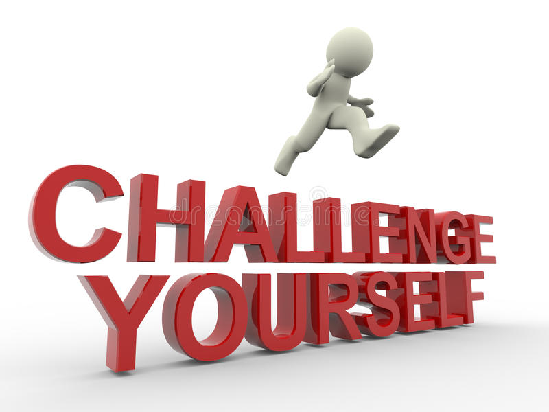 Challenge yourself vector illustration