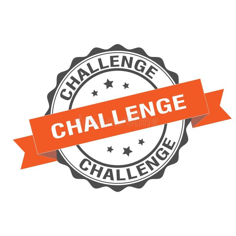Challenged stamp illustration. Challenge stamp seal illustration design stock illustration
