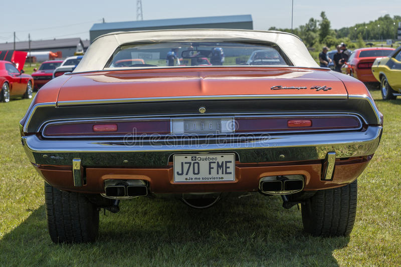Challenger rear end royalty free stock images