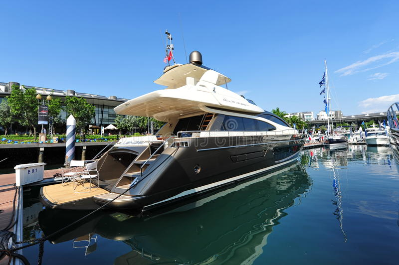 Download Challenger Riva On Display At The Singapore Yacht Show 2013 Editorial Photography - Image: 30659542