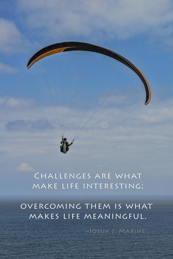 Challenges and paraglider royalty free stock photo