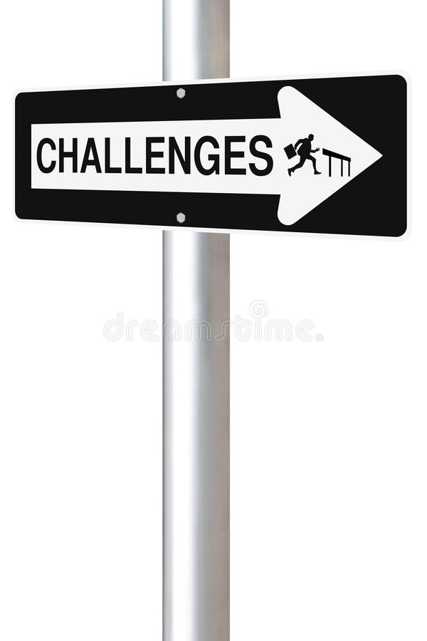 Challenges This Way stock images