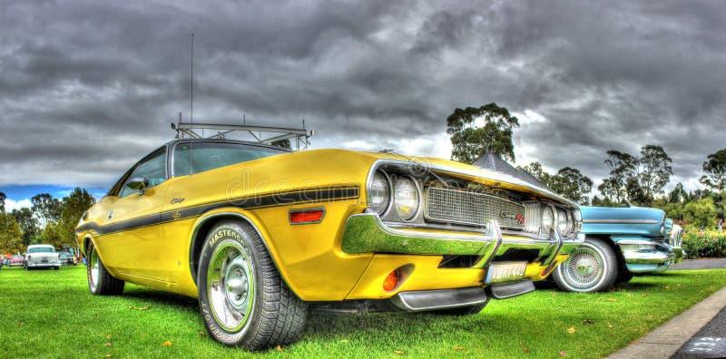 Challengeur américain R/T de Dodge des années 1970 classiques photos libres de droits