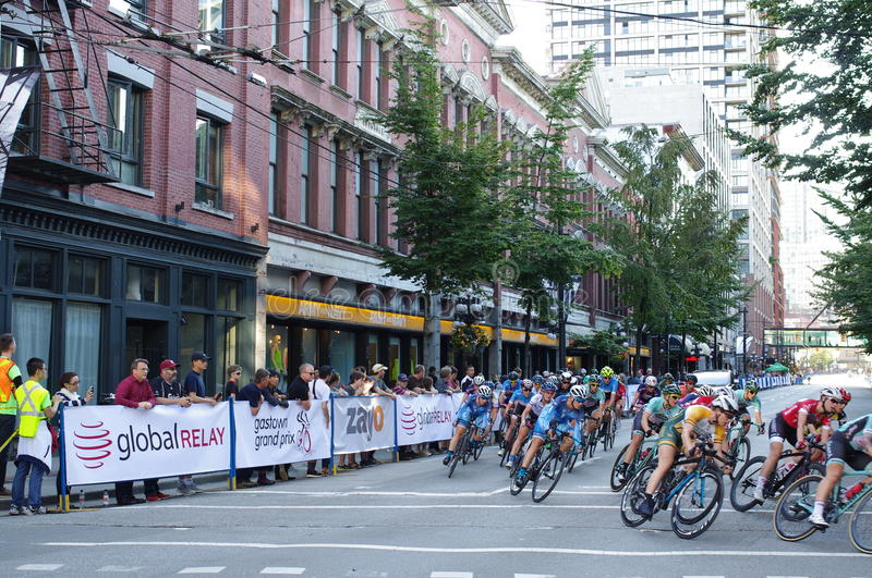 Challenging cycling race royalty free stock photo