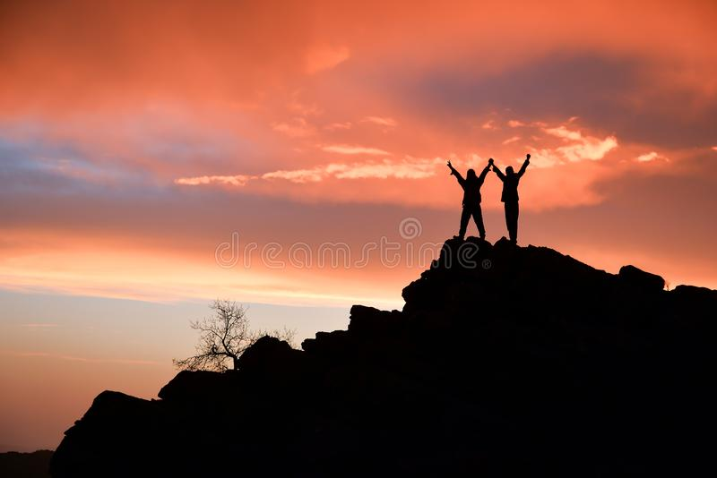 Successful, dedicated and harmonious people stock images