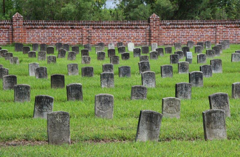 Chalmette-nationaler Friedhof stockfotos