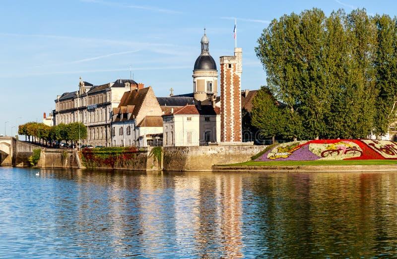 Chalon-sur-Saone, geboorteplaats van Nicéphore Niépce, uitvinder van fotografie Bourgogne-Franche- Comte, Frankrijk royalty-vrije stock fotografie