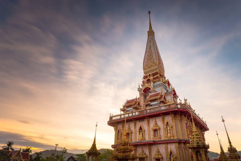 Chalong świątynia w Phuket Tajlandia fotografia stock