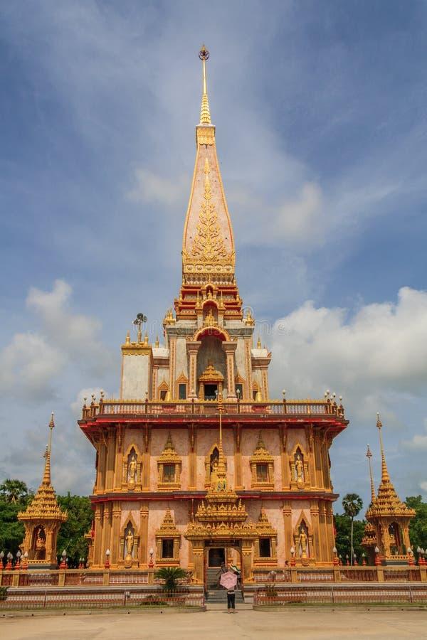 Chalong Boeddhistische tempel, royalty-vrije stock fotografie